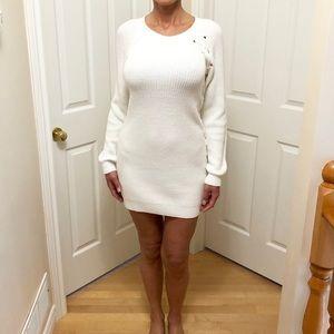 GUESS | White Sweater Dress.
